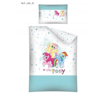 Pościel dla dzieci z bawełny do łóżeczka -  My Little Pony - 100x135 +60x40 -  Kucyki Pony mlp 36 b