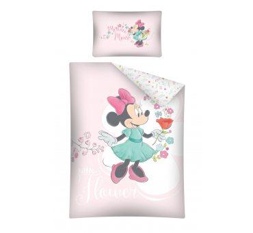 Pościel dziecięca biało różowa Myszka Minnie  do łóżeczka  Mickey Mouse - 100 x 135  STC 29 A