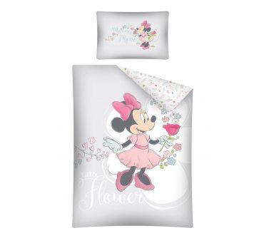 Pościel dziecięca biało popielata Myszka Minnie  do łóżeczka  Mickey Mouse - 100 x 135  STC 29 B