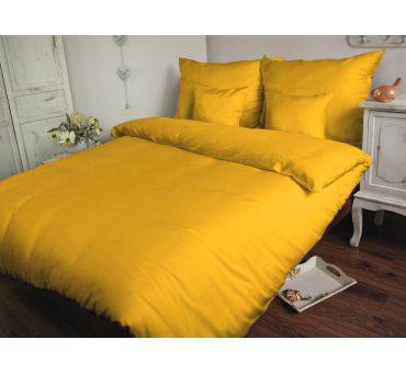 Pościel Satynowa Jednobarwna 140 x 200 + 70 x 80 - Żółty - Carmen 004