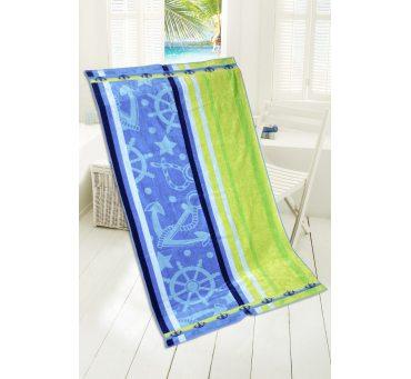 Ręcznik - plażowy - 85x170 cm - kąpielowy - Blue Lagune - Greno