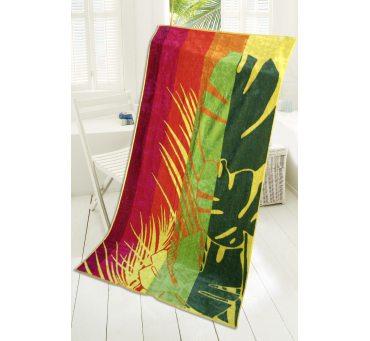 Ręcznik - plażowy - 85x170 cm - kąpielowy - Flora - Greno