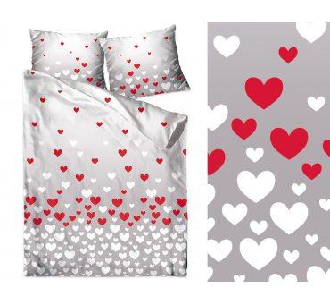 Kpl. Pościeli z bawełny - 160x200- I Love You - Bielbaw