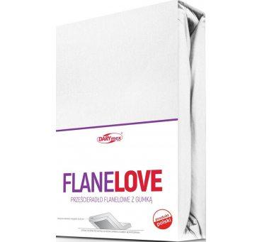 Prześcieradło Flanelowe z gumką Białe  -  180x200 - białe