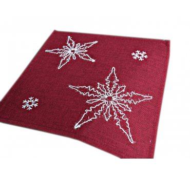 Serwetka świąteczna - Czerwona, biała gwiazda  - 25 x 25 - 1878  boże narodzenie