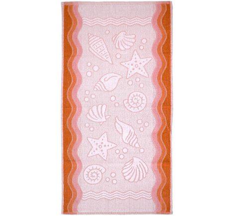 Ręcznik Flora Ocean - Brzoskwiniowy - 40x60 cm - Everday Collection - Greno
