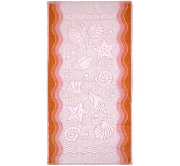 Ręcznik Flora Ocean - Brzoskwiniowy - 50x100 cm - Everday Collection - Greno