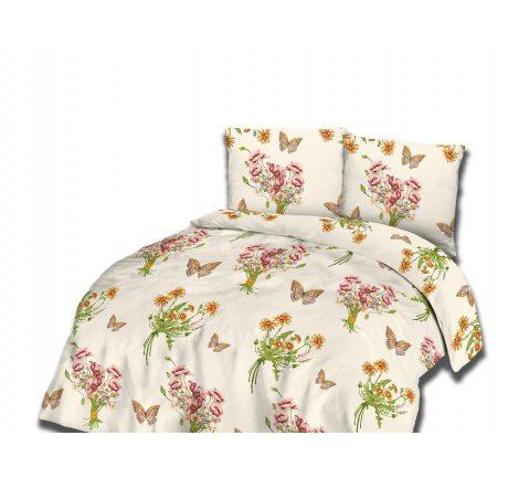 Kpl pościeli  flanelowej - 220x200 - Różowe Kwiatki - 31469/2