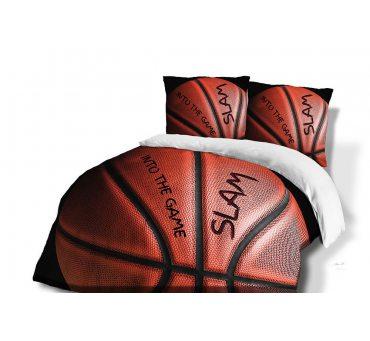 Pościel z Bawełny - Basketball - 140x200 + 70x80 - 61452/1 - vintage młodzieżowa