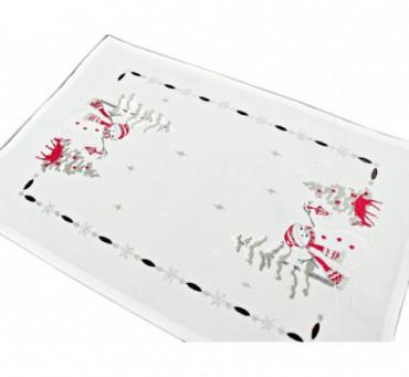 Bieżnik świąteczny - bałwanek - 30 x 45 cm int 181243  boże narodzenie