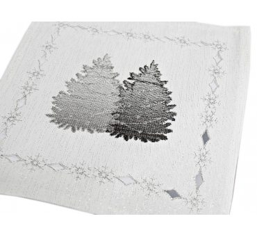 Serwetka świąteczna - srebrne choinki - 25 x 25 int 181184 -  boże narodzenie
