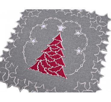Serwetka świąteczna - czerwona choinka - 30 x 30 int 190102 boże narodzenie 1 szt