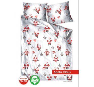 Pościel Świąteczna z  bawełny - 140x200 +70x80 - Santa Claus -  Mikołaj - Bielbaw