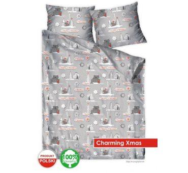 Pościel Świąteczna z  bawełny - 160x200 - Charming Xmas  - Bielbaw