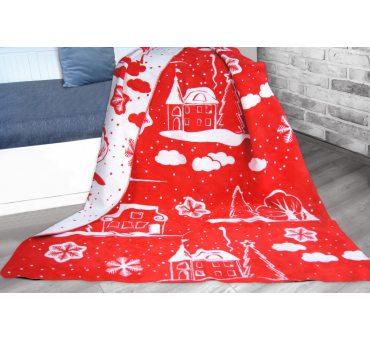 Koc Glamour -  Charming Xmas czerwony -  150 x 200 Greno - Boże Narodzenie