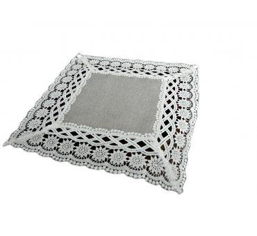 Serwetka z białą gipiurą 30x30 - Gracja 43812