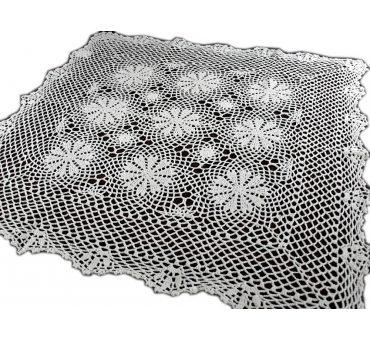 Bieżnik szydełkowy -  biały - 85x85 - 6158 -  Biały - ręcznie robiony