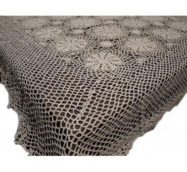 Obrus szydełkowy beżowy - 110x135 - 6158 - Beż - ręcznie robiony