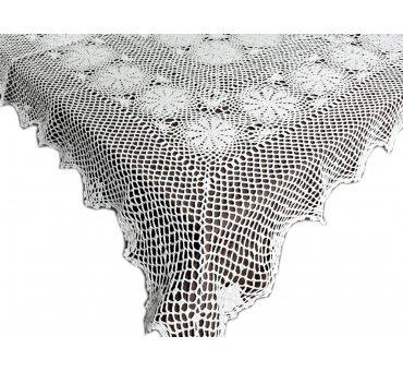 Obrus szydełkowy -  biały - 150x260  - 6158 -  Biały - ręcznie robiony