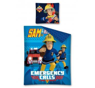 Pościel z bawełny dla dzieci - Strażak Sam - 160x200 +70x80 - Strażak FS 01
