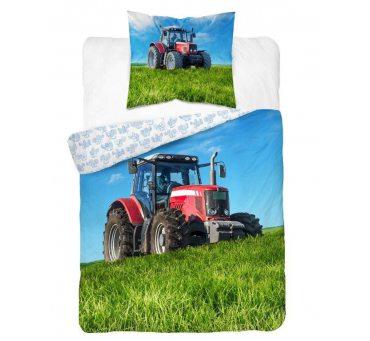Komplet pościeli młodzieżowej 160x200 +70x80 - Traktor 3017 A dla dzieci