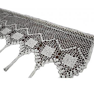Zazdrostka -  szydełko - Biały  -  30x100 - firana  10188 -  ręcznie robiona