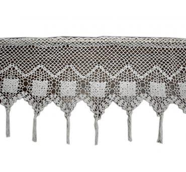 Zazdrostka -  szydełko - Biały  -  30x150 - firana  10188 -  ręcznie robiona