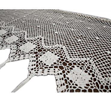Zazdrostka - szydełko - Biały  -  50x70 - firana  10188 -  ręcznie robiona