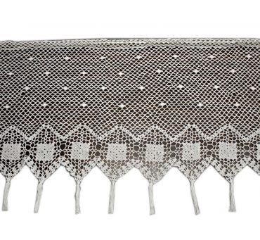 Zazdrostka - szydełko - Biały  -  50x150 - firana  10188 -  ręcznie robiona