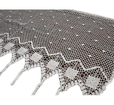 Lambreklin -  szydełko - Biały - 70x100 - firana  10188 -  ręcznie robiony