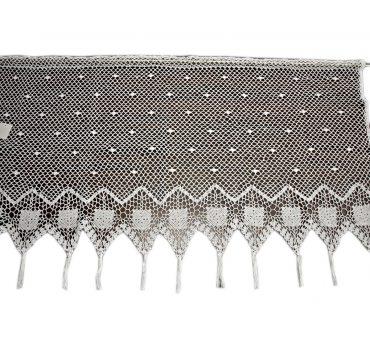 Lambreklin -  szydełko - Biały - 70x200 - firana  10188 -  ręcznie robiony