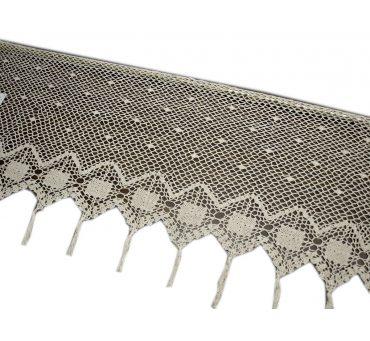 Zazdrostka - szydełko - Ecru -  50x100 - firana  10188 -  ręcznie robiona