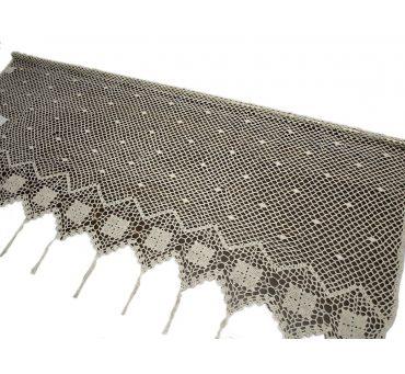 Lambreklin -  szydełko - Ecru - 70x100 - firana  10188 -  ręcznie robiony