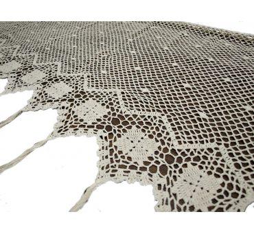 Lambreklin -  szydełko - Ecru - 70x150 - firana  10188 -  ręcznie robiony