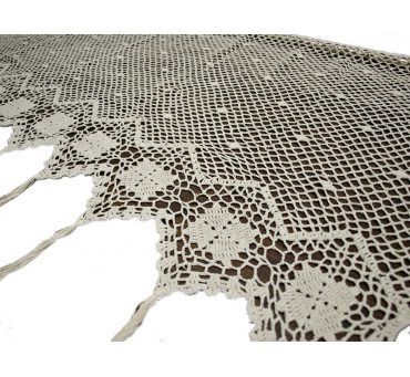 Lambreklin -  szydełko - Ecru - 70x200 - firana  10188 -  ręcznie robiony