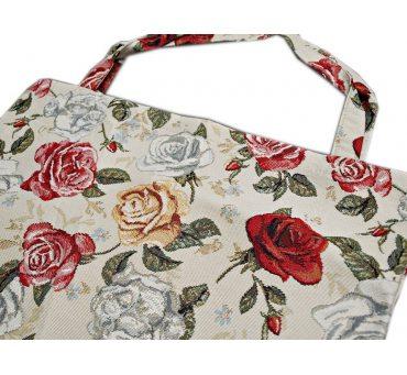 Torba gobelin  - duża - 42x40 - butik - Róże