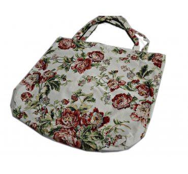 Torba gobelin  - duża - 42x40 - butik - bukiet róż