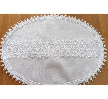 Serwetka swiąteczna z koronką 30x 40 biała 0405 - Wielkanoc - do koszyczka