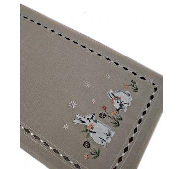 Nakładka świąteczna - 40x85 Zajączek - int 190140 beż - wielkanoc