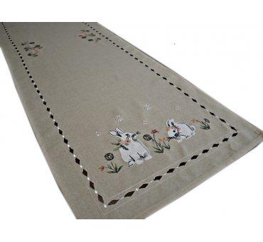 Nakładka świąteczna - 40x140 Zajączek - int 190140 beż - wielkanoc