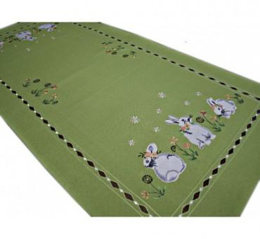 Nakładka świąteczna - 50x100 Zajączek - int 190140 zielony