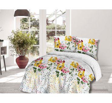 Kpl pościeli z  bawełny  - 180x200  - Kolorowe kwiatuszki -  Cottonlove 71407/1