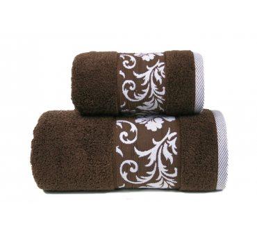 Ręcznik Glamour -  70x140 - Brązowy - mikrobawełna Greno   Brąz