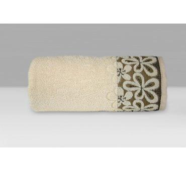 Ręcznik Bella - 50x90 - Kremowy  - Greno  krem