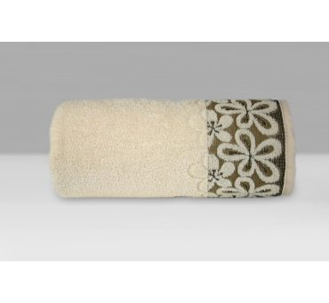 Ręcznik Bella - 70x140 - Kremowy  - Greno  krem