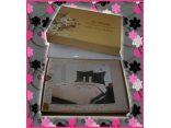 Komplet pościeli satynowej haftowanej Goldsun (wz 5)  160x200 -  na prezent