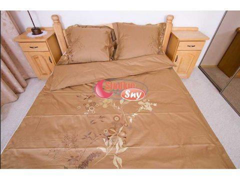 Komplet pościeli satynowej haftowanej Goldsun (wz 7)  160x200  na prezent