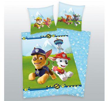 Pościel z bawełny dla dzieci - Psi  Patrol - 160x200 +70x80 - Paw  44322-73