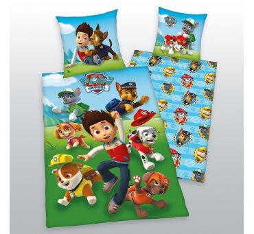 Pościel z bawełny dla dzieci - Psi  Patrol - 140x200 +70x80 - Paw  44322-24
