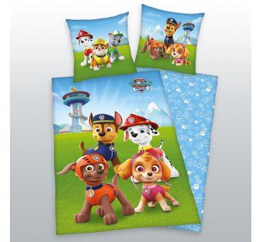 Pościel z bawełny dla dzieci - Psi  Patrol - 140x200 +70x80 - Paw  44322-41